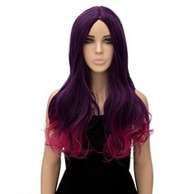 Alacos Fashion Long Curly Purple Ombre Synthetic Christmas Costumes Part... - $8.96