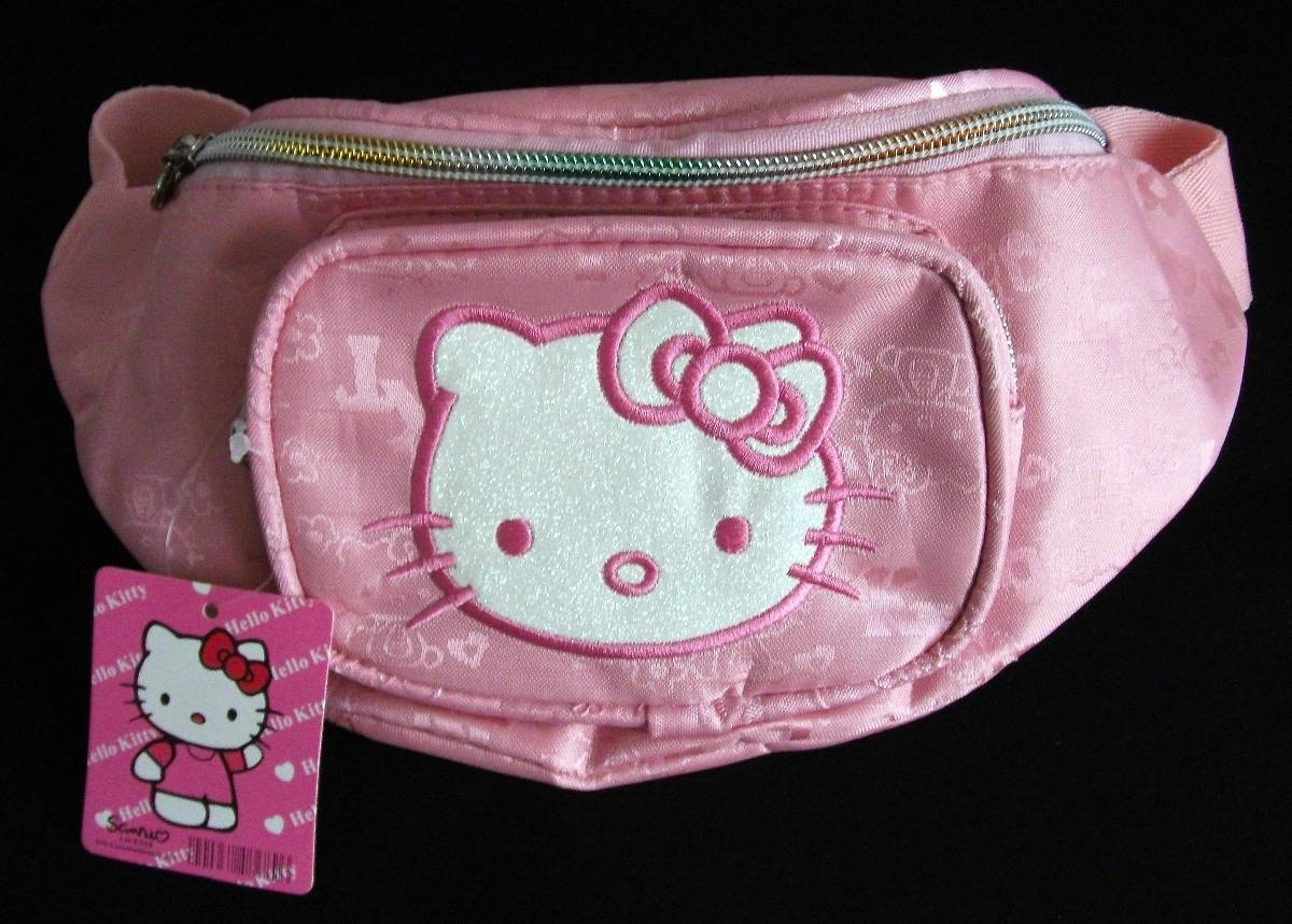 hello kitty waist bag front