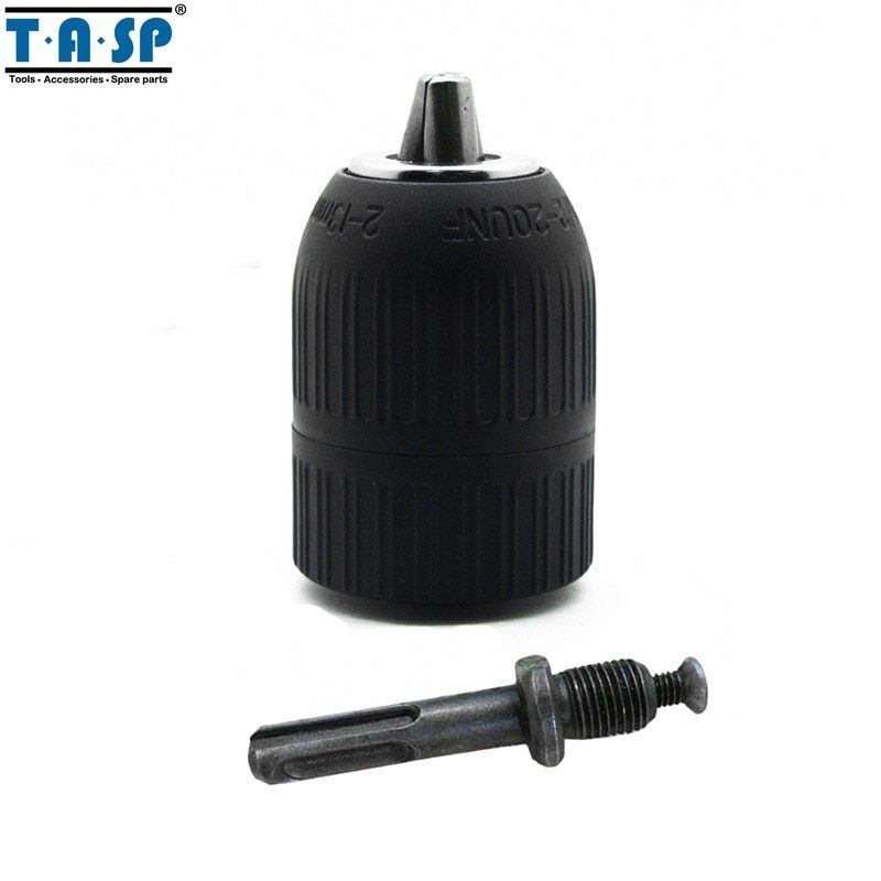"Primary image for TASP® 2~13mm Keyless Drill Chuck 1/2"" 20UNF With Adapter Electric Drill"