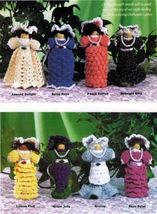 X477 Crochet PATTERN ONLY Set of 8 Clothespin Ladies Doll Christmas Orna... - $12.50