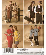 Simplicity 0528 Western Gangster Racer Bowler Costume Pattern XS-XL - $12.00