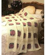 Y195 Crochet PATTERN ONLY Lacy Rose Afghan Thro... - $8.45
