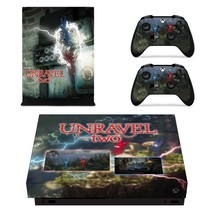 Unravel Two xbox one X skin decal for console and 2 controllers - $15.00