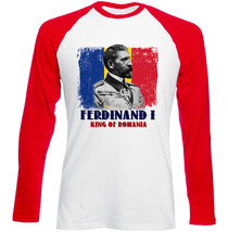 King Ferdinand O King Of Romania - New Red Sleeved Tshirt - $26.53