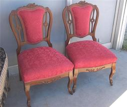 Pair of Carved French Sidechairs/Parlor Chairs  (SC38) - $579.05