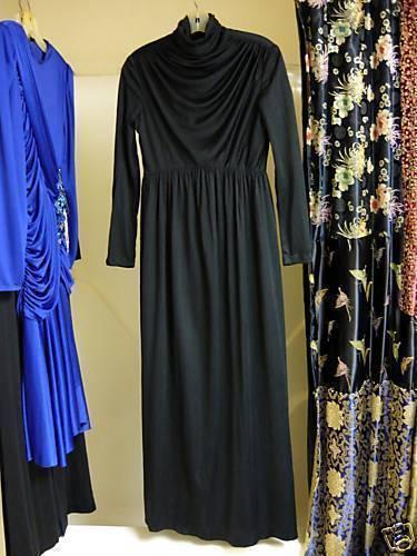 Black Turtle Neck Long Glamour Gown M/L  Bonanza