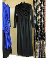 Black Turtle Neck Long Glamour Gown M/L  - $28.50