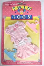 """Twin Togs Outfits Blouse & Dress Pink and White Fits 5.5"""" Baby Dolls Clo... - $10.88"""