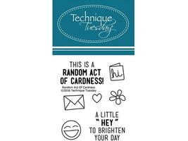 Technique Tuesday Random Act of Cardness Clear Stamp Set #RAOCa
