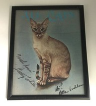 """Framed Signed Original Betty White Autograph All Cats Print 9x12"""" Golden Girls image 2"""