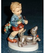 """Sunday Stroll"" Goebel Hummel Figurine #2237 TMK8 Boy Walking Dog - CUTE... - $290.99"