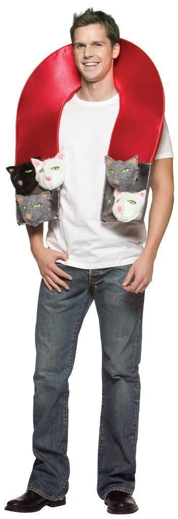 Pussy Magnet Costume Adult Fur Cat Heads Halloween Unique Funny Naughty GC6090