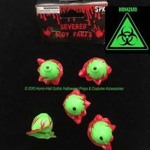 Toxic Biohazard-GREEN SEVERED EYEBALLS-Body Part-Mad Scientist Lab ZOMBI... - $2.94