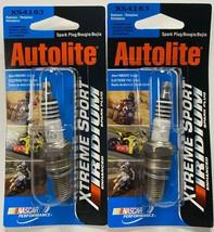 2X Autolite XS4163 Xtreme Sport Iridium Enhanced Spark Plugs RA6HC 8809 DCPR8EIX