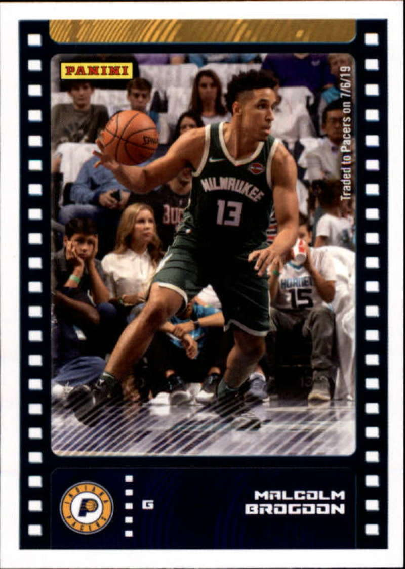 Primary image for 2019-20 Panini NBA Sticker Box Standard Size Insert #45 Malcolm Brogdon Indiana
