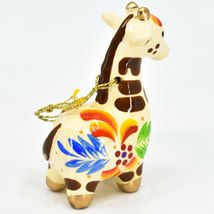 Handcrafted Painted Ceramic White Giraffe Confetti Ornament Made in Peru image 4