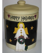 Certified International Becca Barton Midnight Angel Christmas Cookie Jar - $34.99