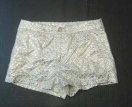 Abercrombie Fitch Shorts Women's Size 0 Metallic Grey Gray W25 - $14.07