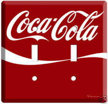 NEW RED COCA-COLA DOUBLE LIGHT SWITCH COVER WALL PLATE  - $9.99