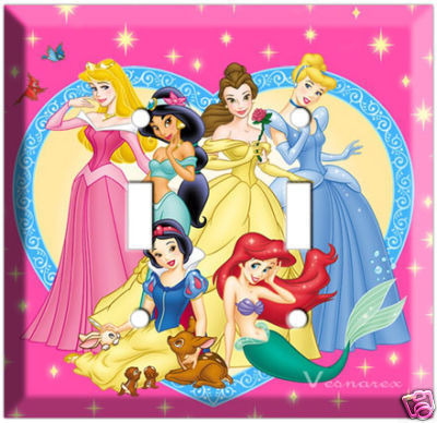 Primary image for NEW DISNEY PRINCESSES DOUBLE LIGHT SWITCH COVER PLATE BABY GIRLS BEDROOM DECOR
