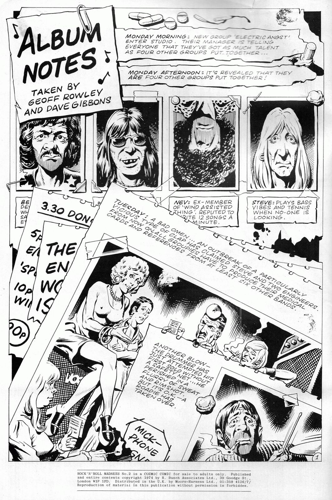 Rock n Roll Madness #2, Cozmic Comics 1984, British Underground comix