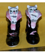Puss In Boots salt & pepper shaker set 1950s Japan figural, hand painted... - $6.18