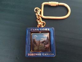 Vtg CASA LOMA Flip Charm Metal Key Chain Toronto Canada w Pictures of Ca... - $14.38
