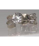 0.67 CT G-I I ROUND DIAMOND WHITE GOLD STUDS EARRINGS - $435.59