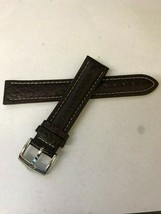 NEW Bulova Brown Leather Silver Buckle 98C71 Watch Band Replacement Strap - $69.99