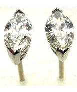 1.04 CT H VS2 MARQUISE 14K GOLD DIAMOND STUD EARRINGS - $2,012.42