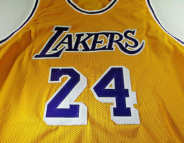 KOBE BRYANT / LOS ANGELES LAKERS / AUTOGRAPHED LAKERS YELLOW CUSTOM JERSEY / COA image 2