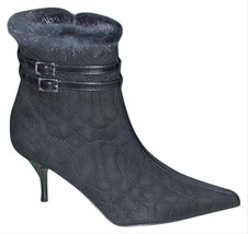 Donald Pliner Couture Quilted Leather Mink Cuff Boot Shoe New Side Zip 6.5 $450 - $202.50