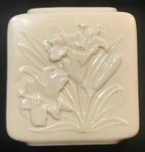 Vintage Lenox Tiger Lily Square Porcelain Vase - Made In USA - $4.94