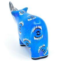 Hand Carved Kenyan Kisii Soapstone Kifaru Blue Rhinoceros Rhino Figurine image 3