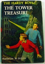 Hardy Boys THE TOWER TREASURE no.1 brown multi-scene endpapers hardcover... - $2.00