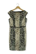 Maggy London lace look panelled body con dress Size 12 - $13.63