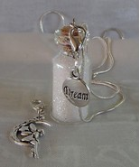 Handmade Glass Cork Bottle Convert Necklace Zip Clips Fairy Dust Dream 9... - $21.99
