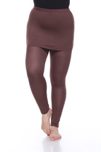 Plus Size Skirted Leggings - Brown - $20.99