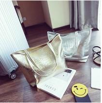 Women Snake Skin Shoulder Bag Silver Gold Crocodile Handbag Alligator La... - $22.24+