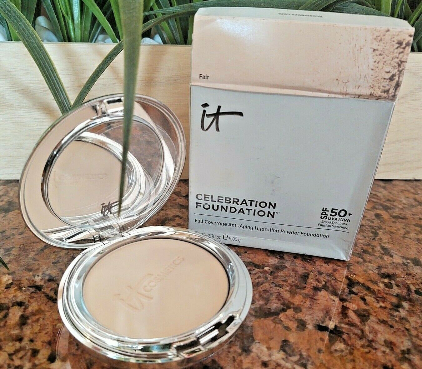 Primary image for IT Cosmetics CELEBRATION FOUNDATION SPF50+ Anti Aging Full Cov Powder FAIR .30oz