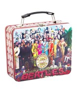 The Beatles Sgt. Peppers Record Album Images Large Tin Tote Lunchbox NEW... - $13.54