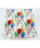 Vintage sunshine balloons birthday party sheet gift wrap paper - $11.96