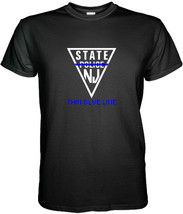 New Jersey State Police T-SHIRT Thin Blue Line Size S, M, L, Xl, 2XL, 3XL - $15.80+