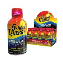 5 Hour Energy Nutritional Drink, Pink Lemonade, 12 Count - $23.36