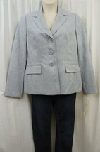 Evan Picone Anzug Jacke 12 Blau Nebel City Chic 3 Knopf Business Blazer - $39.52
