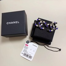 NEW Authentic Chanel 2019 Classic XL Large MULTI COLOR CC Logo Crystal Stud Earr image 2