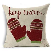 Sofa Cushion Cover Home Decor GiftXmas Christmas Cotton Linen Throw Pill... - $5.92