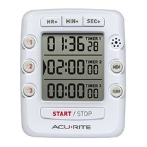 00482, Triple Event Digital Kitchen Timer with Jumbo Display - €9,23 EUR