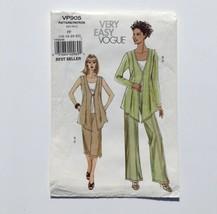 Vogue P905 Vest Jacket and Culottes Pants 16-22 Plus Size Uncut Pattern FF - $19.30
