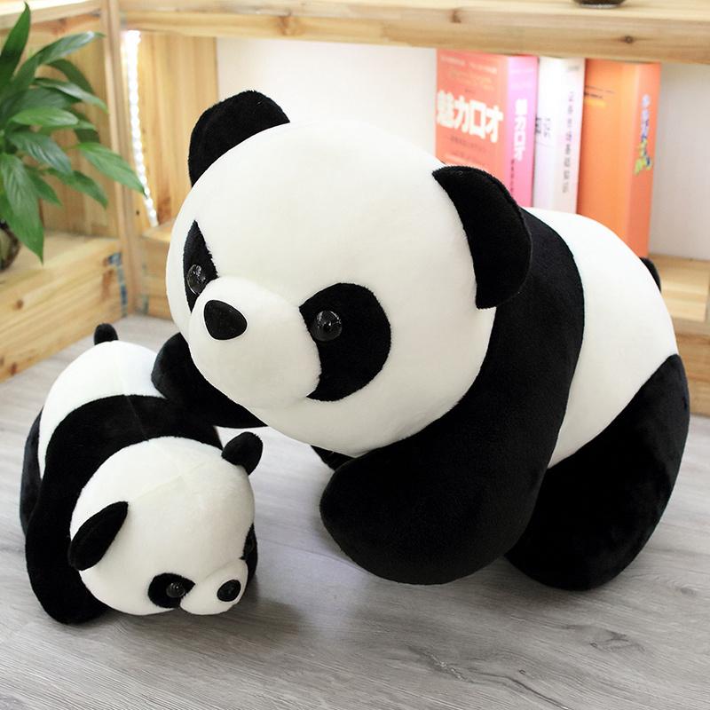 1PC Lovely Baby Big Giant Panda Bear Plush Stuffed Animal Doll Panda Animals Toy image 2